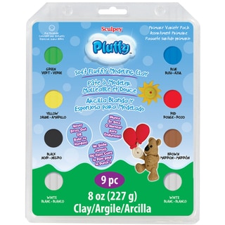 Sculpey Pluffy Clay Variety Packs-Primary