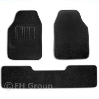 FH Group Black High Quality Carpet Full Set Floor Mats