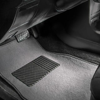 FH Group Grey Carpet Full Set Auto Floor Mats