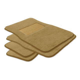FH Group Beige Carpet Full Set Auto Floor Mats