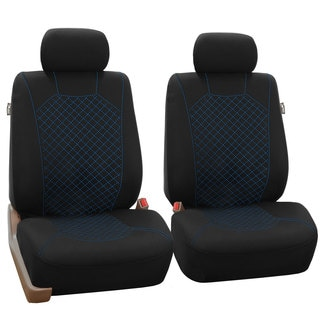 FH Group Blue Fabric Front Bucket Seat Covers (Set of 2)