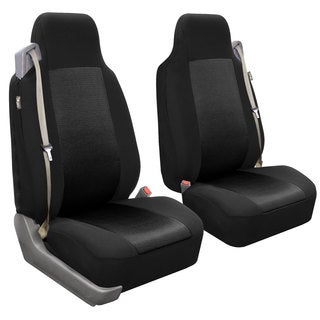 FH Group Black Fabric Front Bucket Seat Covers (Set of 2)