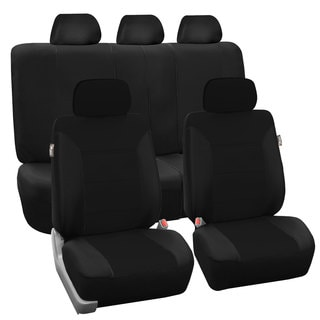 FH Group Black Khaki Car Seat Covers (Full Set)