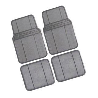 FH Group Grey Rubber Full Set Auto Floor Mats