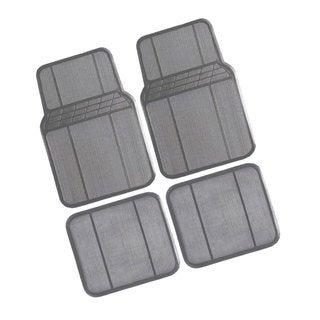 FH Group Grey Rubber Full Set Auto Floor Mats