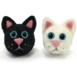 Feltworks Ball Cats Learn Needle Felting Kit