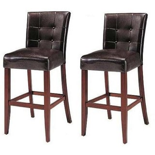 K and B Walnut Wood Parson Chairs (Set of 2)