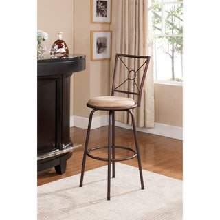 K&B 360-degree Bronze Swivel Stools (Set of 2)
