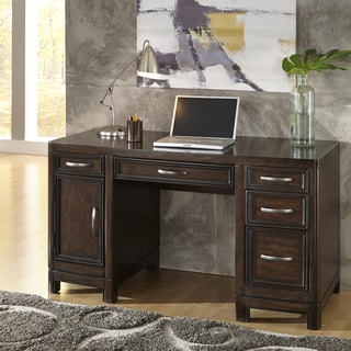 Crescent Hill Pedestal Desk by Home Styles