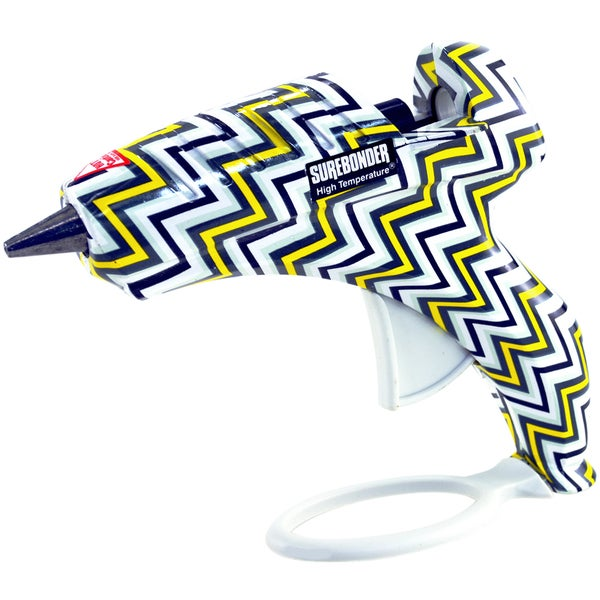 High-Temp Standard Glue Gun W/Safety Fuse 40 Watt-Chevron Yellow & Black