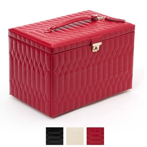 WOLF Caroline Extra Large Leather Jewelry Box