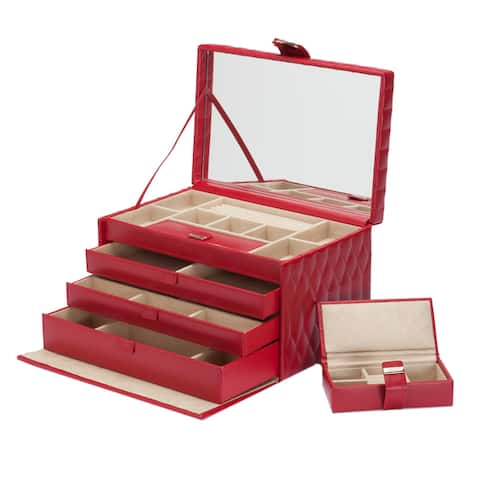 WOLF Caroline Large Leather Jewelry Box