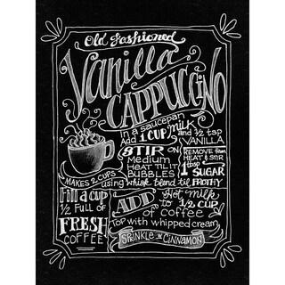 Melissa Frances 'Vanilla Cappuccino' 15.75-inch Chalkboard Canvas Print