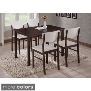 K and B Walnut Wood Side Chairs (Set of 4)