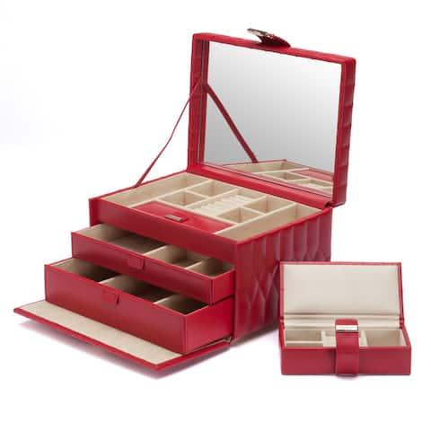 WOLF Caroline Leather Medium Jewelry Box