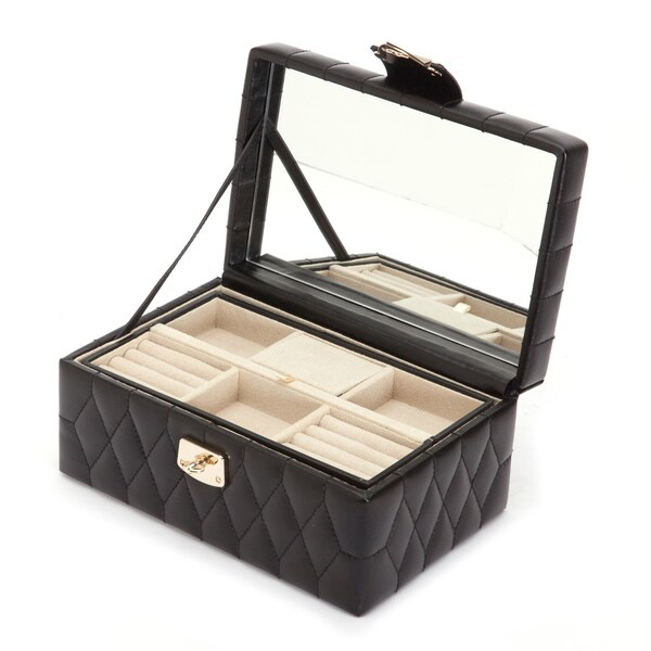 WOLF Caroline Small Leather Jewelry Box Free Shipping Today