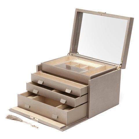 WOLF Palermo Large Leather Jewelry Box