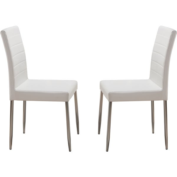 K And B White Metal Dining Chairs Set Of 4