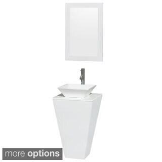 Wyndham Collection Esprit Pedestal Bathroom Vanity Countertop/ Mirror