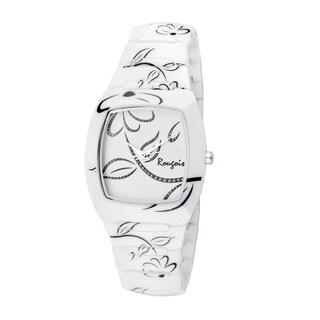 Rougois Women's Bloom Series White Ceramic Watch