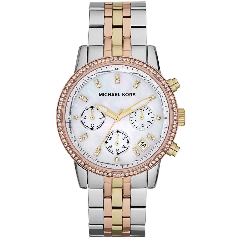 Michael Kors Women's MK5650 Ritz Tri-color Chronograph Wa...