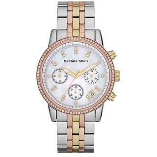Michael Kors Women's MK5650 Ritz Tri-color Chronograph Watch|https://ak1.ostkcdn.com/images/products/9659379/P16841385.jpg?impolicy=medium