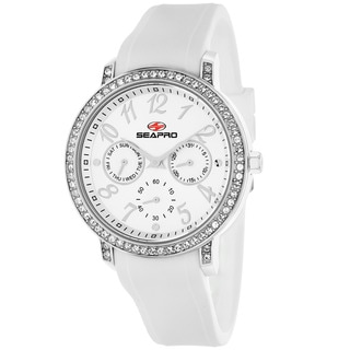 Seapro Women's SP4410 Swell Round White Strap Watch