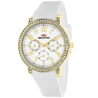 Seapro Women's SP4411 Swell Round White Strap Watch