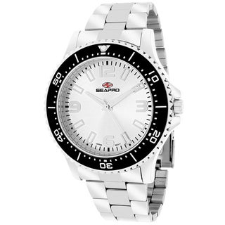 Seapro Men's Tideway Round Silver Bracelet Watch