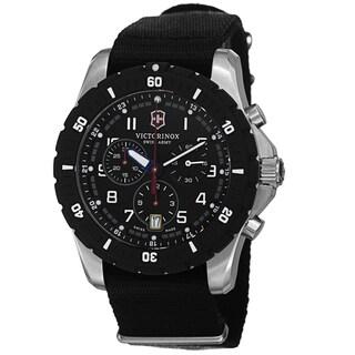 Swiss Army Men's V241678.1 'Maverick' Black Dial Black Nato Strap Chronograph Quartz Watch
