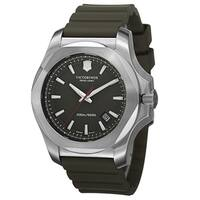 Swiss Army Men's  'Inox' Green Dial Green Rubber Strap Automatic Watch