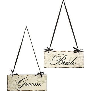Bride And Groom Decorative Signs
