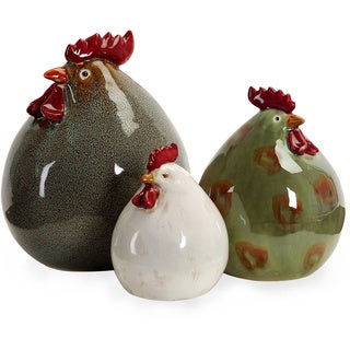 Imax Stylized Chickens (Set of 3)