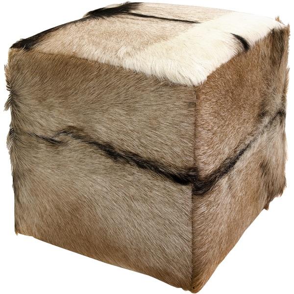 Shop Imax Pacino Animal Hide Ottoman Free Shipping Today