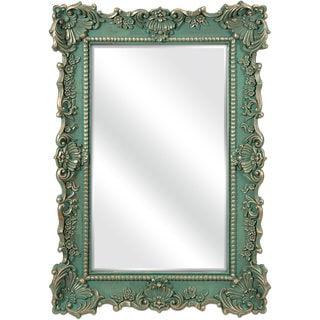Imax Sophia Green Antique Wall Mirror