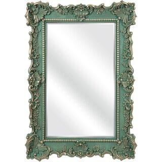 Imax Sophia Green Antique Wall Mirror