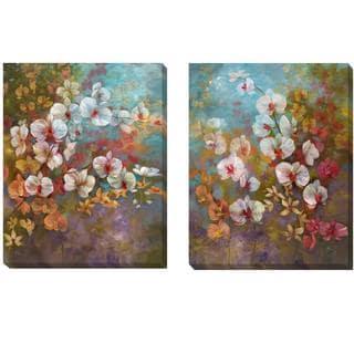 Nan 'Bali Garden I and II' 2-piece Canvas Set