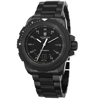 Swiss Army Men's V241684 'Alpnach' Black Dial Black Stainless Steel Mechanical Watch