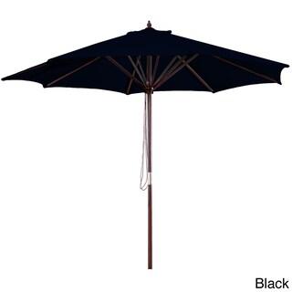Jordan Manufacturing 9-foot Wooden Market Umbrella (Option: Black)