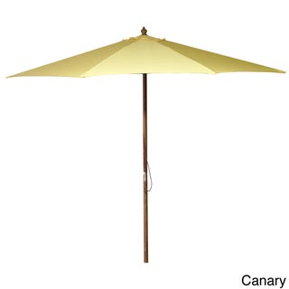 Jordan Manufacturing 9-foot Wooden Market Umbrella