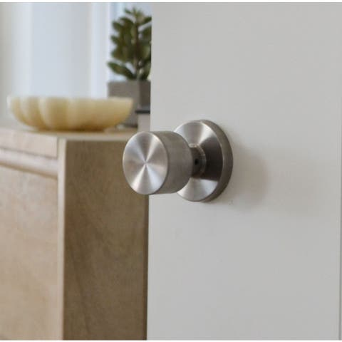 Sure-Loc Modern Round Door Knob, Satin Stainless