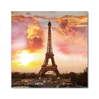 Porthos Home PL Home 'Paris at Sunset' Large Split-Canvas Print