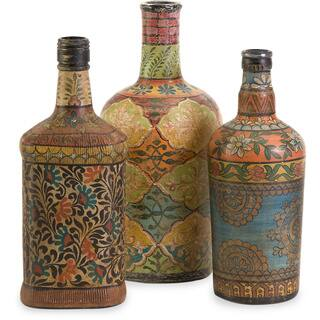 decorated glass bottles. Circus Bottles  Set of 3 Decorative Home Decor For Less Overstock com