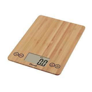 Glass Digital Food Scale, Bamboo