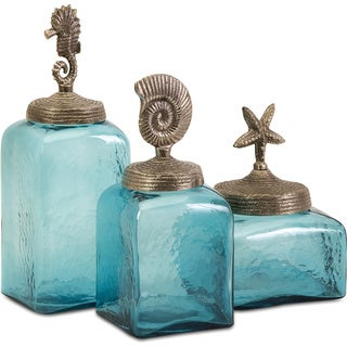 Sea Life Canisters (Set of 3)