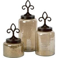Fleur De Lis Lidded Jars (Set of 3)
