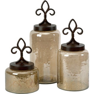 Fleur De Lis Lidded Jars (Set of 3)