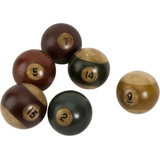 Antique Pool Balls (Set of 6)