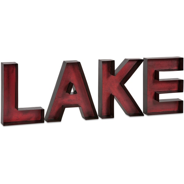 Metal Wall Letters Home Decor: Shop Lake Metal Wall Letters