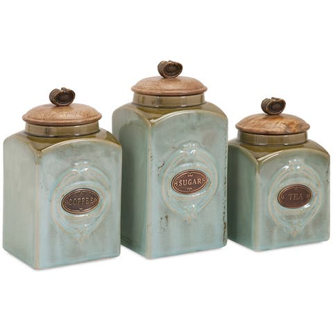 Addison Ceramic Canisters Set Of 3